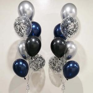 Chromékonfetti 7st latexballonger 12