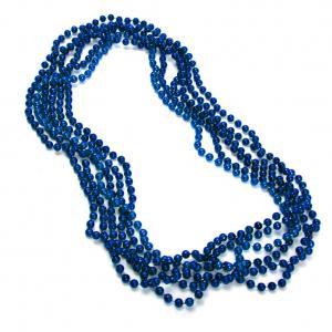blå metallic pärlhalsband