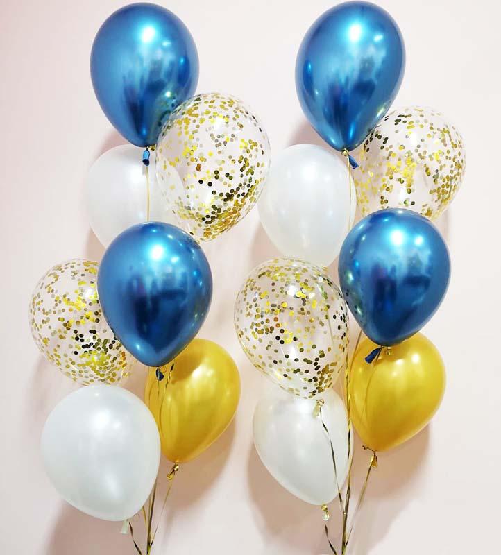 Chromékonfetti 7st latexballonger 7
