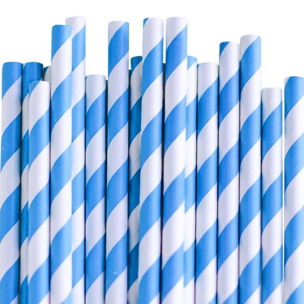 Papperssugrör blå spiral