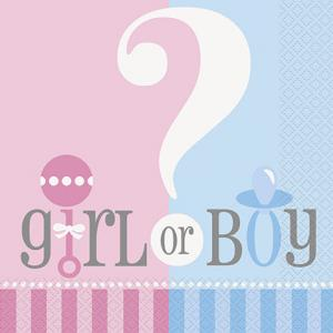 Babyshower Servetter Boy or Girl?