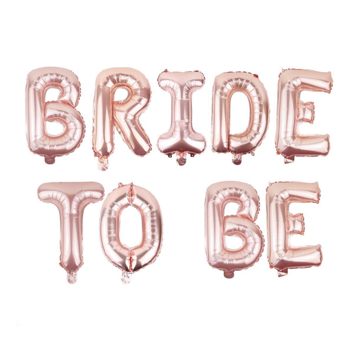 bride to be ballong girlang rosé