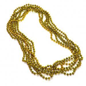 Guld metallic pärlhalsband