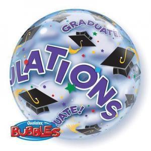 Heliumballong Bubbles Grattis Examenshattar