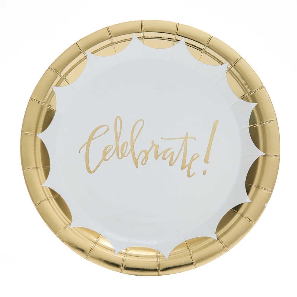Stora Celebrate! guld tallrikar