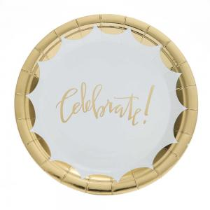 Små Celebrate! guld tallrikar