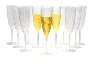 Champagne glas i hårdplast lyx