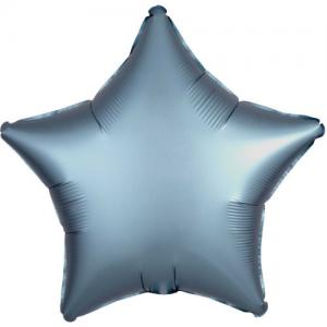Folie ballong satin Stjärna Charcoal
