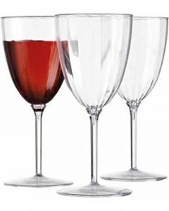Vin glas i hårdplast lyx