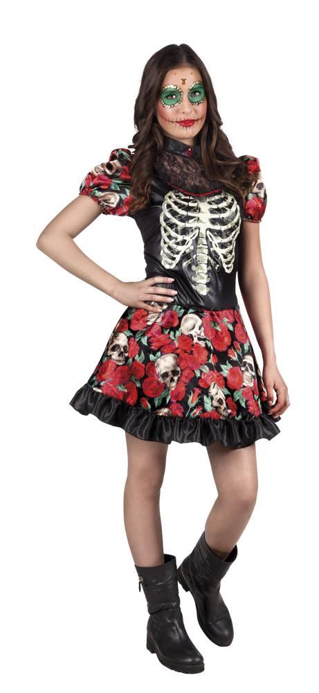 Day of the dead klänning för tånnoringar