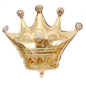 Guld krona med helium