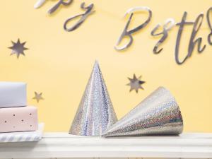 Partyhattar Holografisk Silver