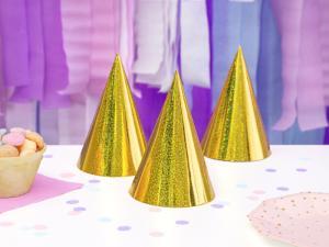 Partyhattar Holografiska Guld