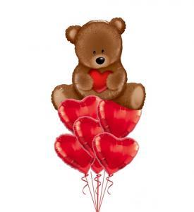 Alla hjärtansdag ballong buketter