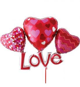 Love alla hjärtansdag ballong bukett