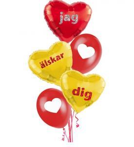 Alla Hjärtans dag Ballongbuketter