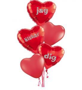 Alla Hjärtans dag Ballongbuketter  röd
