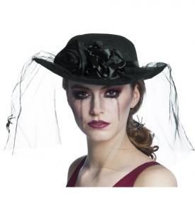 Svart Hatt med spindlar