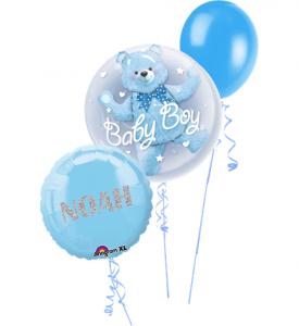 Ballongbukett Baby Boy med Glitter Text