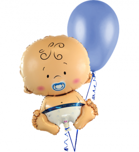 Ballongbukett Babyshower It`s a Boy inkl helium