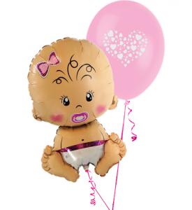 Ballongbukett Babyshower It`s a Girl inkl helium