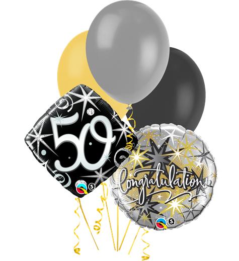 födelsedag 50 år Ballongbukett Födelsedag 50 inkl helium födelsedag 50 år