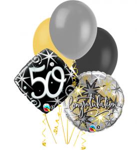 Ballongbukett Födelsedag 50 inkl helium