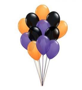 BALLONGBUKETT HALLOWEEN 12 latexballonger INKL HELIUM