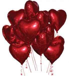 Ballongbukett Heliumhjärtan 15st