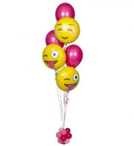 Ballongbukett Smiley