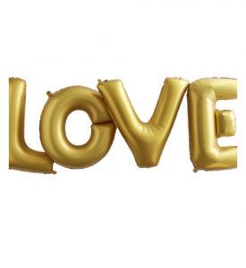 Ballongbukett Love guld Inkl Helium
