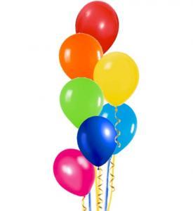 BALLONGBUKETT  Pride med 7st latexballonger