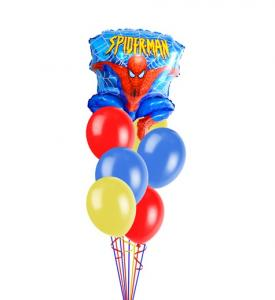 Ballongbukett Spiderman inkl helium 3