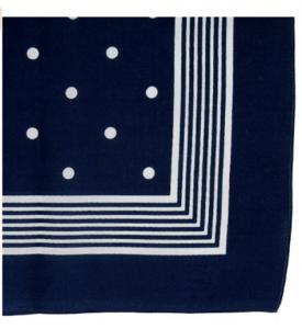 Bandanas 50-tal Mörkblå
