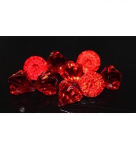 Diamant Konfetti Röd 12mm