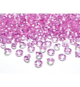 Diamant Konfetti ljusrosa 12mm