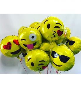 Emoji ballongbukett 10 st