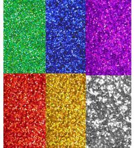 Finkornigt glitter 6färger 120g (96-pack)