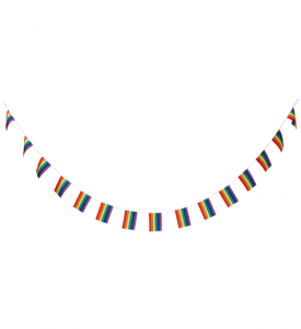 Flagg girland Regnbågsfärgad Pride 5m