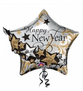 Folieballong Nyår Superstjärna inklusive helium