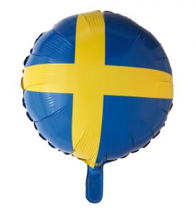 Heliumballong Rund Sverige Flagga