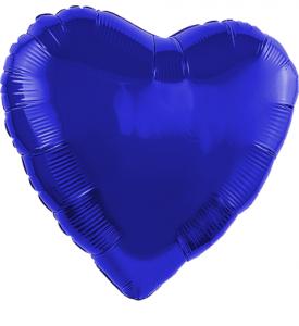 Foliehjärta 18tum Blå