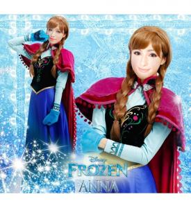 Uthyrning Frozen Anna maskeraddräkt