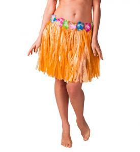 Hawaiikjol med blommor, Barn, 31cm Orange