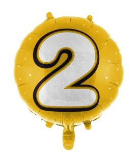 Heliumballonger med siffror i guld  2