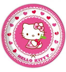 Hello Kitty Papperstallrikar 23cm 8-pack