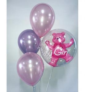 Its a girl ballongbukett med nalle