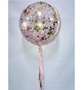 Konfetti Ballong 80 cm med tassel