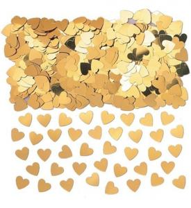 Konfetti Guld Hjärtan