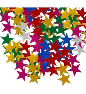 Konfetti Stjärna flerfärgade